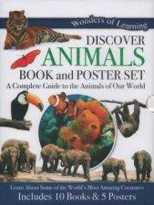 10 Book  Poster Slipcase Set Animals