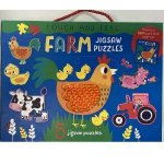 Puzzle And Book Set Farm