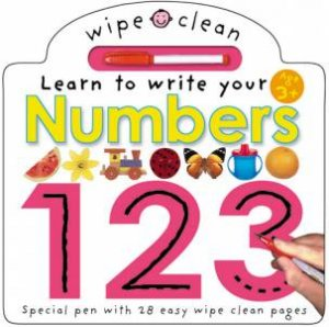 Wipe Clean Board Book: Learn To Write Your Numbers 123