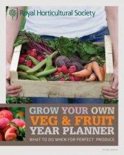 RHS Grow Your Own Veg  Fruit Year Planner