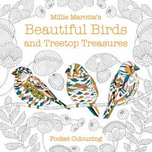 Mille Marotta's Beautiful Birds And Treetop Treasures Pocket Colouring