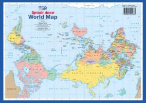 Upside Down World A4 Map by Various - 9781865001685
