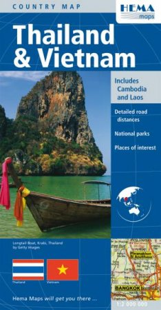Hema Deluxe Map: Thailand & Vietnam, 2nd Ed  by Various - 9781865002743 -  QBD Books