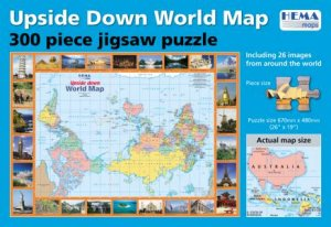 Upside Down World Jigsaw Map 300 Pieces By Various 9781865004518