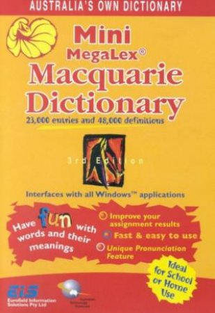 Mini MegaLex Macquarie Dictionary CD-ROM by Various