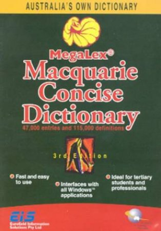 MegaLex Macquarie Concise Dictionary CD-ROM by Various