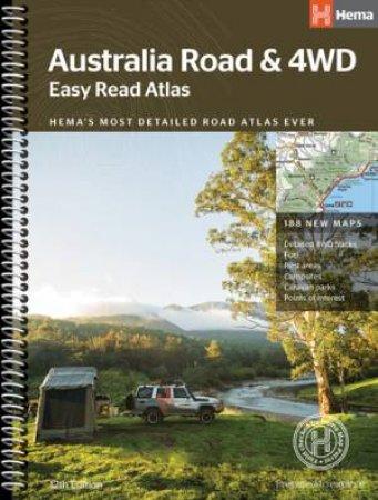Hema 4WD: Australia Road & 4WD Easy Read Atlas, 12th Ed.