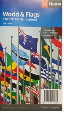 Map Of The World Flags.Hema Maps World And Flags Map By Various 9781876413781 Qbd Books