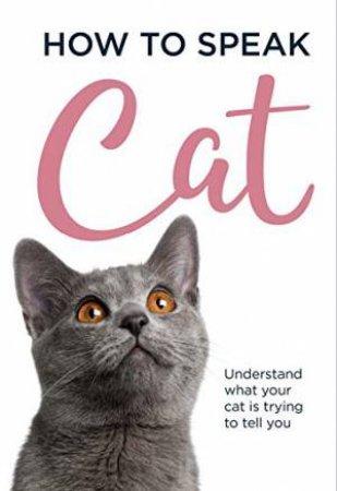 How To Speak Cat by Susanna Goeghegan