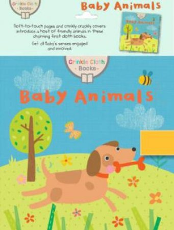 Crinkle Cloth Book: Baby Animals