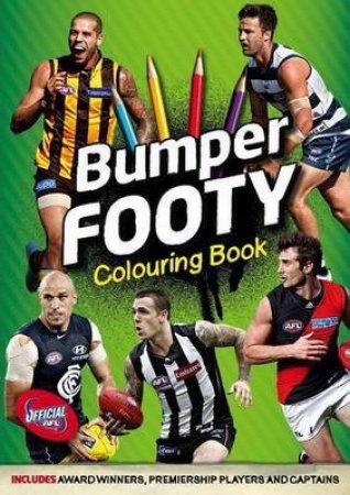 AFL Bumper Footy Colouring Book by Callum Twomey