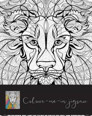 Colour Me In Jigsaw Lion
