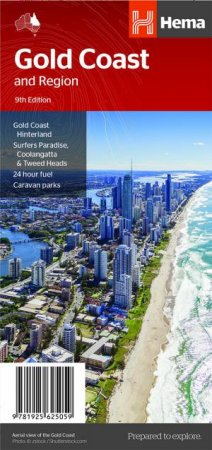 Hema City Map: Gold Coast & Region Map, 9th Ed  by Various - 9781925625059  - QBD Books