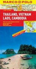 Marco Polo Thailand Vietnam Laos Cambodia map by Various