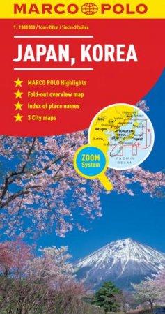 Japan Korea Map By Marco Polo - Map of japan and korea