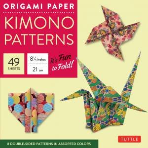 Origami Paper: Kimono Patterns Large
