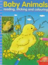 Baby Animal Reading Sticking  Colouring