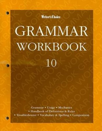 Grammar Workbook 10 by Glencoe