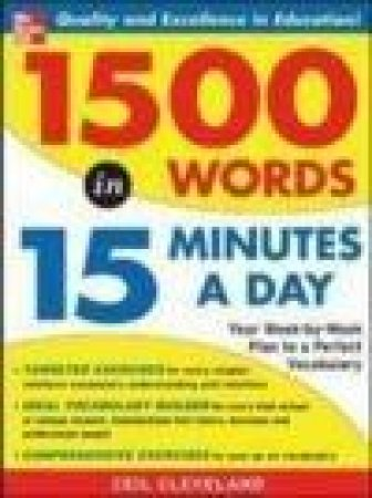 1,500 Words In 15 Minutes A Day by Ceil Cleveland