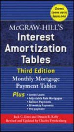 Mcgraw-hill's Interest Amortization Tables by Jack C. Estes & Dennis R. Kelley & Charles Freedenberg