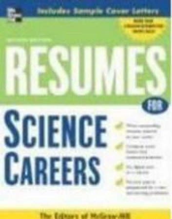 Resumes for Science Careers by McGraw-Hill