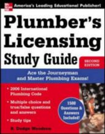 Plumber's Licensing Study Guide by R. Dodge Woodson