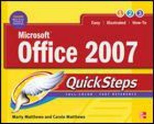 Microsoft Office 2007 QuickSteps by Carole Boggs Matthews & Marty Matthews
