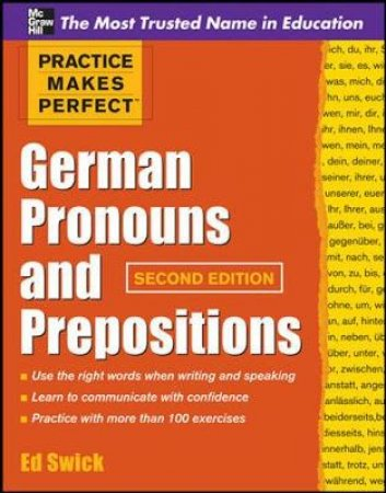 German Pronouns and Prepositions by Ed Swick