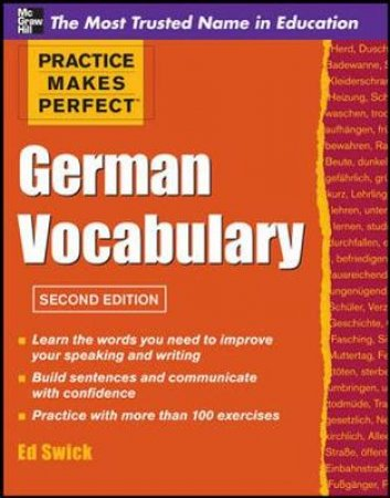 German Vocabulary by Ed Swick
