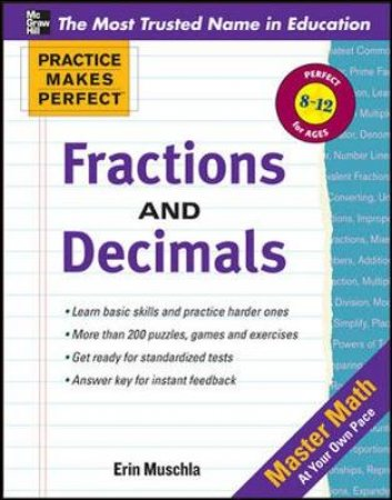 Fractions, Decimals, and Percents by Erin Muschla-Berry