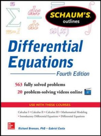 Schaum's Outlines Differential Equations by Richard Bronson & Gabriel B. Costa