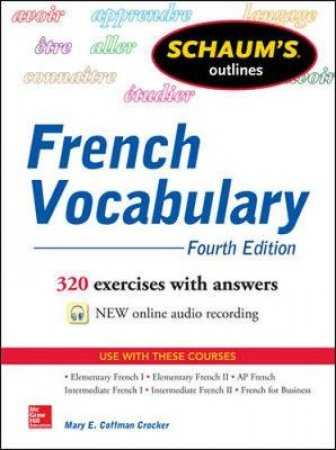 Schaum's Outlines French Vocabulary by Mary E. Coffman Crocker