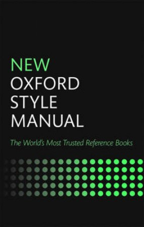 New Oxford Style Manual by Oxford University Press