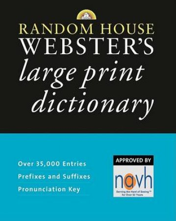 Random House Webster's Large Print Dictionary by Random House