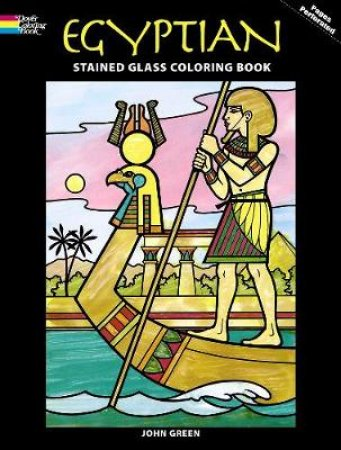 Egyptian Stained Glass Coloring Book