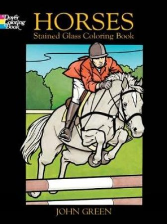 Horses Stained Glass Cloring Book