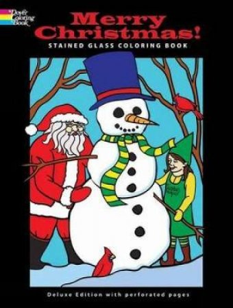 Merry Christmas! Stained Glass Coloring Book