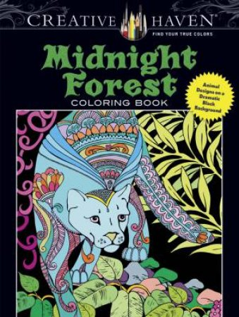 Midnight Forest Adult Coloring Book