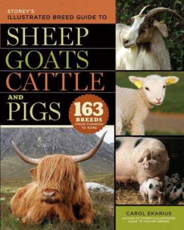 Storey's Illustrated Guide to Sheep, Goats, Cattle and Pigs by Carol Ekarius